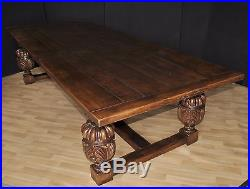 XL 10 ft French Oak Rustic Refectory Kitchen Dining Table
