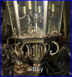 XL Louis XV Brass Lantern Light Chandeler French Lamps